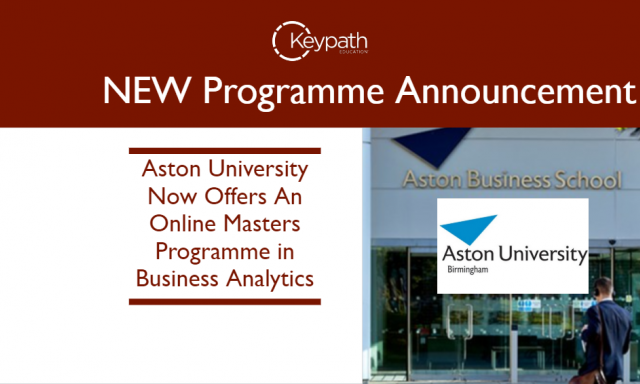 Aston University Now Offers An Online Masters Program in Business Analytics